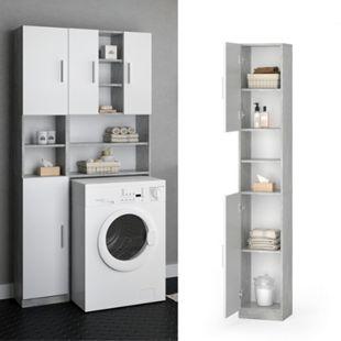 VICCO Anstellschrank LUIS Waschmaschinenschrank Badmöbel Badschrank Hochschrank - Bild 1