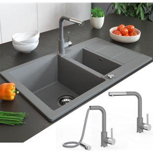 Bergström Armatur Küchenarmatur Spülearmatur Wasserhahn Mischbatterie Grau - Bild 1