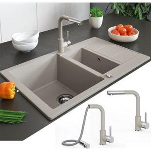 Bergström Armatur Küchenarmatur Spülearmatur Wasserhahn Mischbatterie Beige - Bild 1
