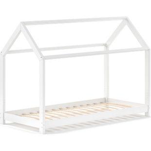 VITALISPA Kinderbett WIKI 90x200 cm Weiß Schlafplatz Spielbett Hausbett Kinderhaus - Bild 1