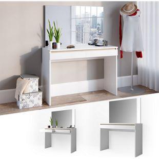 Vicco Schminktisch Emma Frisiertisch Frisierkommode Kommode Weiß Sonoma inklusive Spiegel - Bild 1