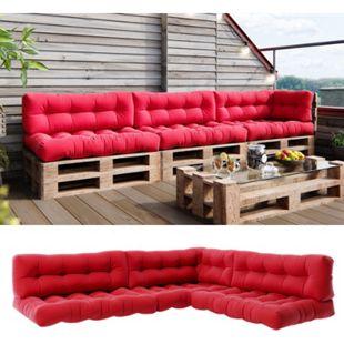Vicco Palettenkissen-Set 3x Sitzkissen + 3x Rückenkissen + Seitenkissen Flocke, verschiedene Farben - Bild 1