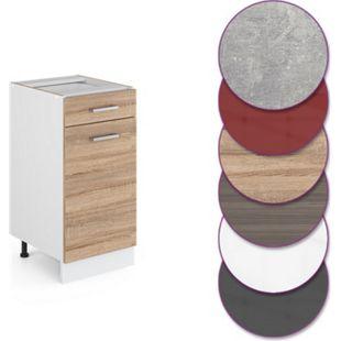 Vicco Küche R-Line Unterschrank 40 cm mit Schublade, verschiedene Farben - Bild 1