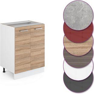 Vicco Küche R-Line Unterschrank 60 cm mit Türen, verschiedene Farben - Bild 1