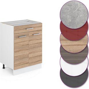 Vicco Küche R-Line Unterschrank 60 cm mit Schublade, verschiedene Farben - Bild 1