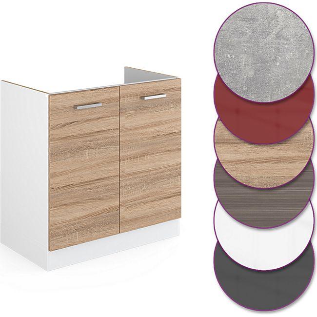 Vicco Küche R-Line Spülenunterschrank 80 cm, verschiedene Farben - Bild 1