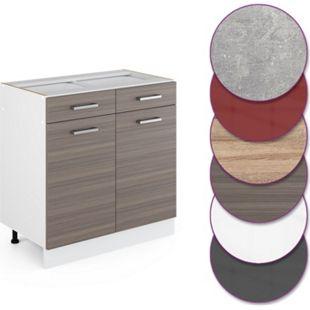 Vicco Küche R-Line Unterschrank 80 cm mit Schubladen, verschiedene Farben - Bild 1
