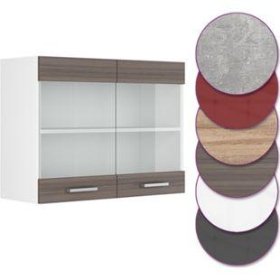 Vicco Küche R-Line Hängeglasschrank 80 cm, verschiedene Farben - Bild 1