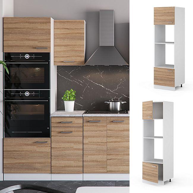 Vicco Küche R-Line Mikrowellenumbauschrank 60 cm, verschiedene Farben - Bild 1