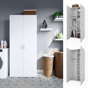 Vicco Schrank Ingo weiß - 2 Türen Universal Mehrzweckschrank Putzschrchrank - Bild 1