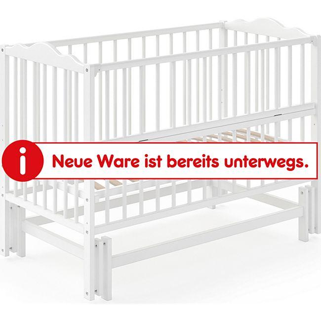 VITALISPA Babywiege KONNI Stubenwagen weiß Schaukel Bettchen Bett Beistellbett - Bild 1