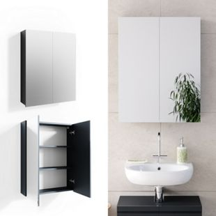 VICCO Spiegelschrank FREDDY Anthrazit Spiegel Badspiegel Wandspiegel Badezimmer - Bild 1