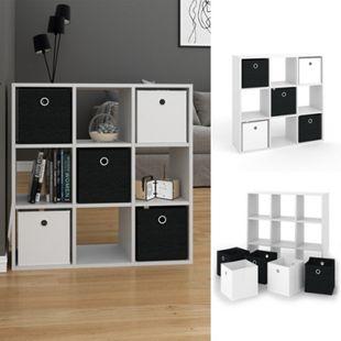 VICCO Raumteiler HYLDA 9 Fächer Weiß Standregal Regal Bücherregal Büroregal - Bild 1
