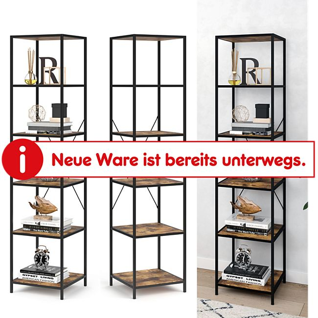 VICCO Loft Standregal Fyrk Bücherregal Wandregal Holz Regal 174x40x40 cm - Bild 1