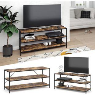 VICCO Loft Fernsehtisch Fyrk TV Lowboard Schrank Board Sideboard Holz Regal 120x53x40 cm - Bild 1