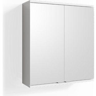 VICCO Spiegelschrank ROY 60 x 68 cm Weiß - Spiegel Badspiegel Bad Wandspiegel - Bild 1