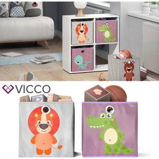 VICCO 2er Set Faltbox 30x30 cm Kinder Faltkiste Aufbewahrungsbox Regalkorb - Bild 1