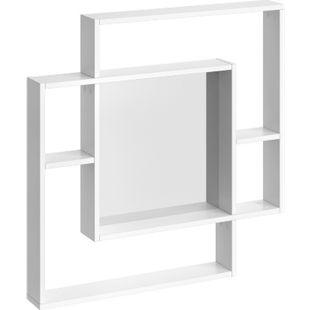 VICCO Spiegel 80x80 cm weiß Wandspiegel Türspiegel Schminkspiegel Flurspiegel - Bild 1