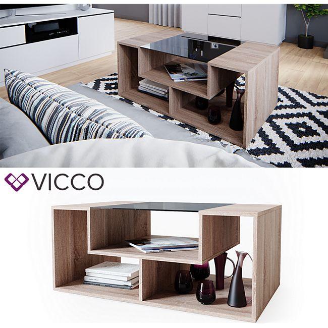 VICCO Couchtisch Gabriel Sonoma Eiche 100cm Sofatisch Kaffeetisch Beistelltisch - Bild 1