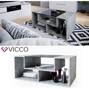 VICCO Couchtisch Gabriel Beton 100cm Sofatisch Kaffeetisch Beistelltisch Ablage - Bild 1