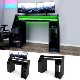 VICCO Computertisch JOEL PC-Tisch Schwarz Gamingtisch Schreibtisch Büromöbel - Bild 1