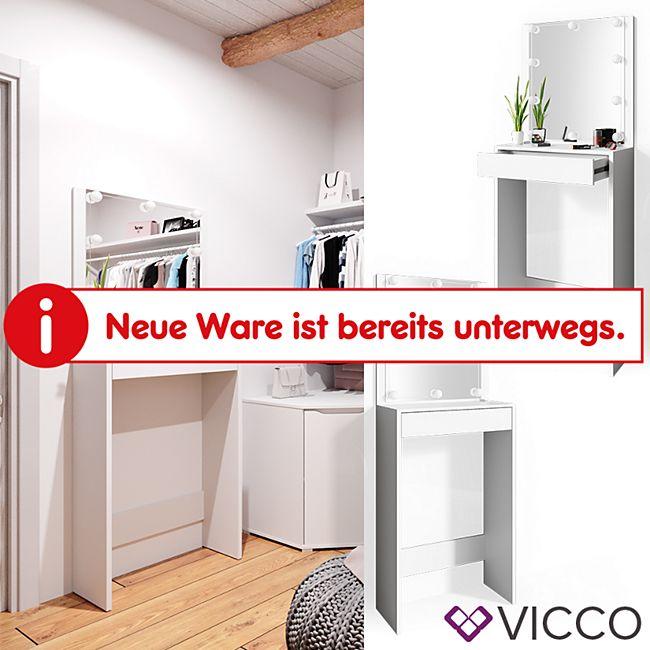 VICCO Schminkstehtisch IDA Weiß Frisiertisch Kommode Frisierkommode LED Spiegel 70 x 180 x 30 (BxHxT) - Bild 1