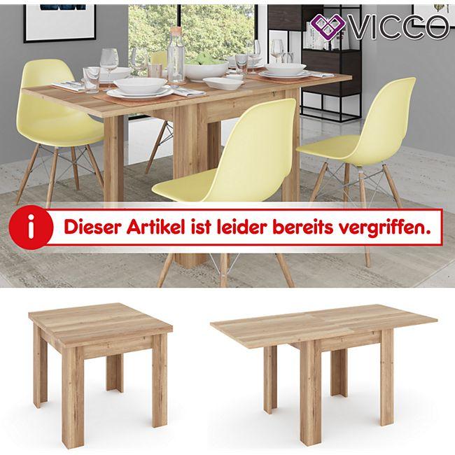 VICCO Esstisch MARTIN 80 - 160 cm Eiche Esszimmertisch ausklappbar Küche  Tisch