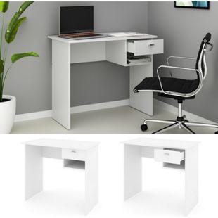 VICCO Schreibtisch COLIN Weiß Arbeitstisch Bürotisch Regal PC Tisch Schublade - Bild 1