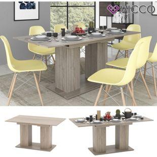 VICCO Esstisch DIX 140 - 180 cm Sonoma Eiche Esszimmertisch ausziehbar Küche - Bild 1