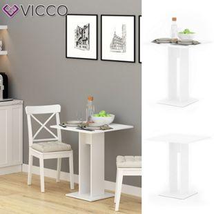 VICCO Esstisch EWERT Küchentisch Esszimmer Tisch Säulentisch weiß 65x65 cm - Bild 1