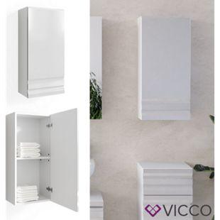 VICCO Bad Hängeschrank FREDDY weiß hochglanz Wandschrank Badschrank - Bild 1