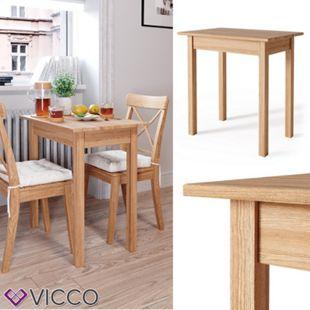 VICCO Esstisch JORGE 50x75 cm Eiche Massiv Esszimmertisch Küche Tisch Holz - Bild 1