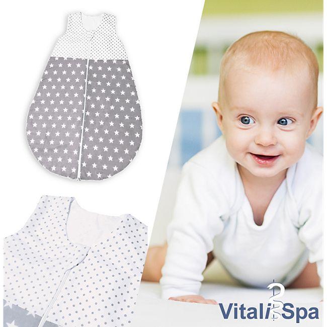 VITALISPA Babydecke Kinderschlafsack Größe 86-92 Schlafsack Sommerschlafsack Jungen & Mädchen 12-18 Monate 90 cm unisex - Bild 1