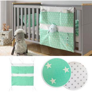 VITALISPA Bett-Organizer Grün Utensilo Kinderzimmer Babybett Tasche 60 x 60 cm - Bild 1