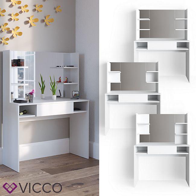 VICCO Schminktisch DAENERYS Weiß Frisiertisch Kommode Frisierkommode Spiegel - Bild 1