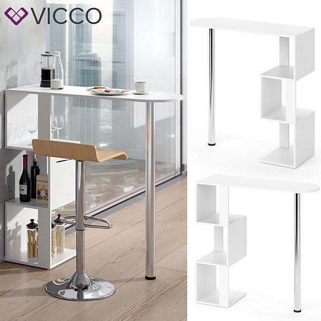 VICCO Bartisch VINCENT Weiß - Bild 1