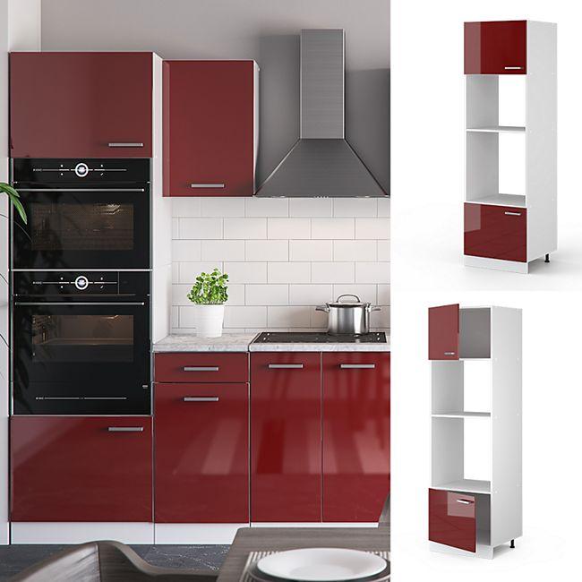 Vicco Mikrowellenumbauschrank 60 cm Küchenschrank Küchenschränke  Küchenunterschrank R-Line Küchenzeile