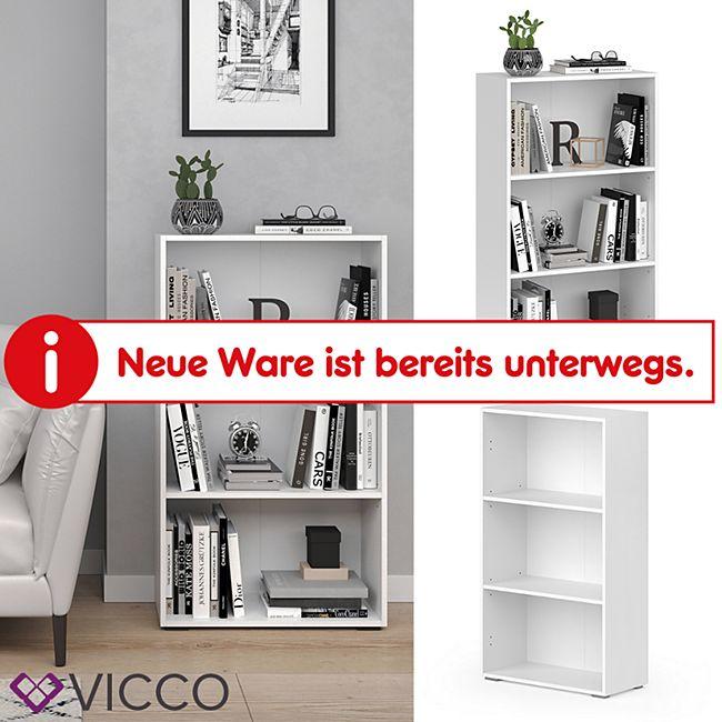 VICCO Bücherregal EASY M Weiß Standegal Wandregal Aktenregal Schrank Büro - Bild 1