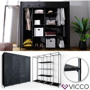 VICCO Kleiderschrank XXXL DIY Faltschrank Stoffschrank Steckregal System schwarz - Bild 1