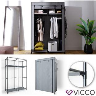 VICCO Kleiderschrank XL DIY Faltschrank Stoffschrank Steckregal System Grau - Bild 1