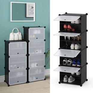 VICCO Schuhschrank modular DIY Steckregal System aus Kunststoff Garderobe Schuhregal 4 Fächer - Bild 1