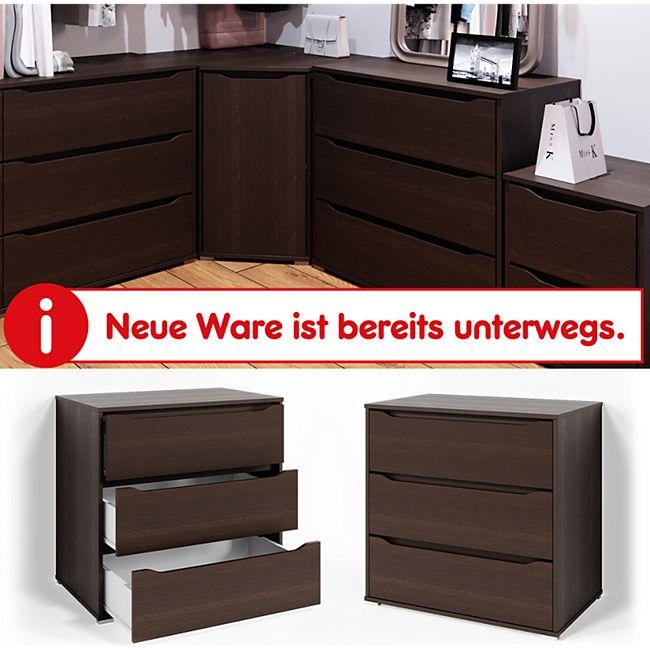 VICCO Kommode RUBEN Wenge 3 Schubladen 80cm Sideboard Mehrzweckschrank Schrank - Bild 1