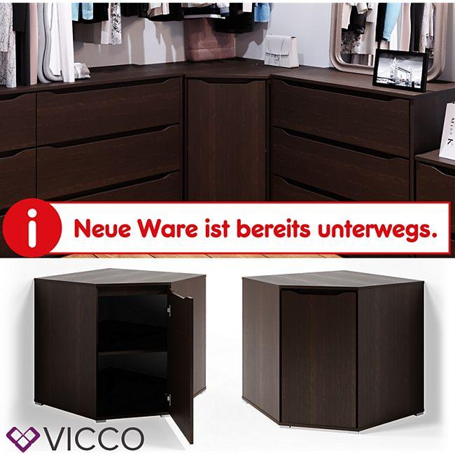 VICCO Eck Kommode RUBEN Wenge Sideboard Mehrzweckschrank Schrank Kleiderschrank - Bild 1