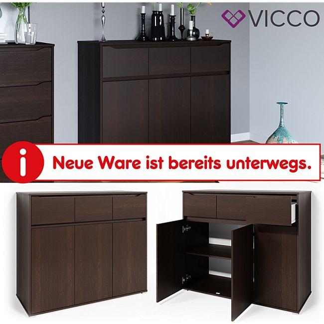VICCO Kommode RUBEN Wenge Schubladen 120 cm Sideboard Mehrzweckschrank Schrank - Bild 1