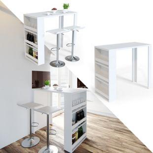 VICCO Bartisch Bar Tresen Bartresen Stehtisch Tisch Tresentisch Bistrotisch Küche - Bild 1