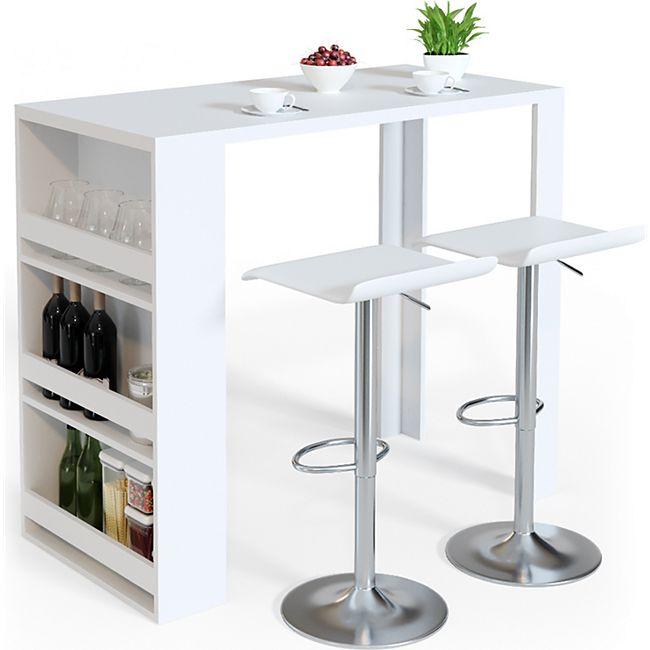 VICCO Bartisch Bar Tresen Bartresen Stehtisch Tisch Tresentisch Bistrotisch  Küche