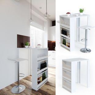 VICCO Bartisch Bar Tresen Weiß Bartresen Stehtisch Tisch Tresentisch Bistrotisch Küche - Bild 1