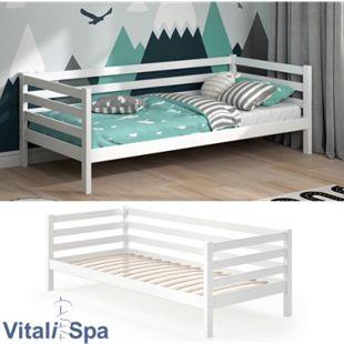 VITALISPA Kinderbett DARCY 90x200cm Weiß inkl. Lattenrost Jugendbett Juniorbett - Bild 1
