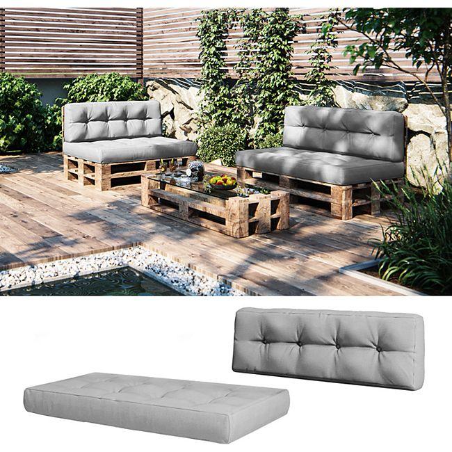 Vicco Palettenkissen-Set Sitzkissen + Rückenkissen Palettenmöbel, verschiedene Farben - Bild 1