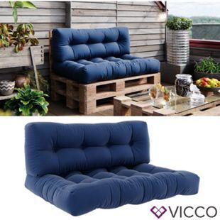 Vicco Palettenkissen-Set Sitzkissen + Rückenkissen Palettenmöbel Flocke, verschiedene Farben - Bild 1